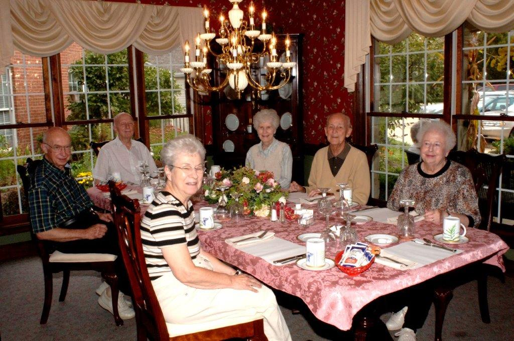dinner party, events, senior living community, programs, wedgewood estates